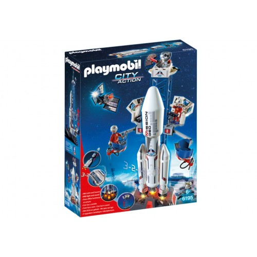 6195 - Cohete con Plataforma de Lanzamiento - Playmobil