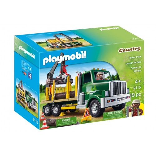 9115 - Camión Grua de Madera - EXCLUSIVO Playmobil USA