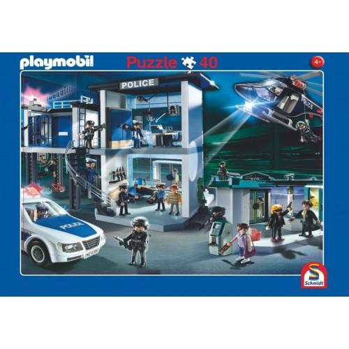 Puzzle Playmobil Aeropuerto y Comisaría 56766