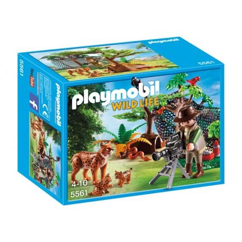 5561 - Familia de Linces con Cámara - Playmobil