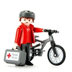 9445 - Ciclista Primeros Auxilios Cruz Roja - Exclusivo Playmobil Holanda