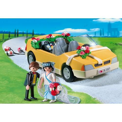 4307 - Recién Casado Novios Coche Latas - Playmobil