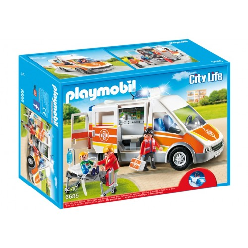 6685 - Ambulancia con Luces y Sonido - Playmobil
