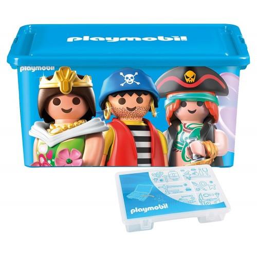 064672 - Caja Ordenación 23L + Bandeja Compartimentos Piezas - Playmobil
