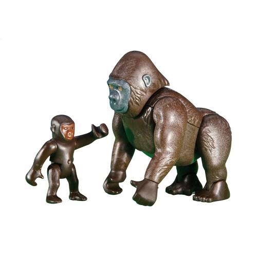 6201 Gorilla with baby - Playmobil