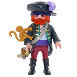 6840 pirate with Mono - Figures Series 10 - Playmobil