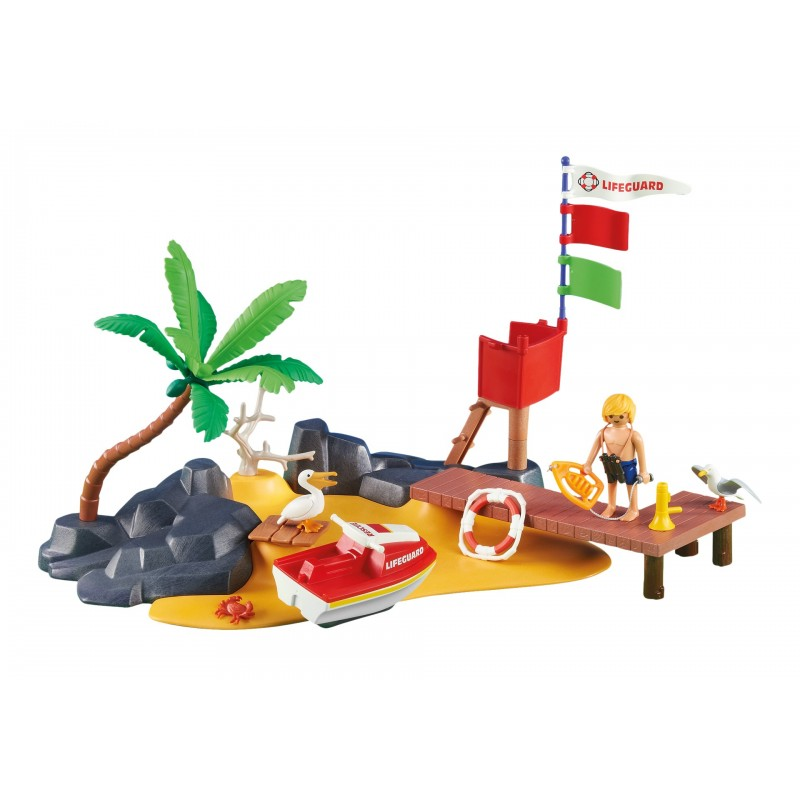 6346 beach and post jetski playmobil playmobileros for Playmobil post