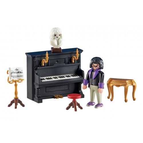 6527 Victorian pianist piano - Playmobil