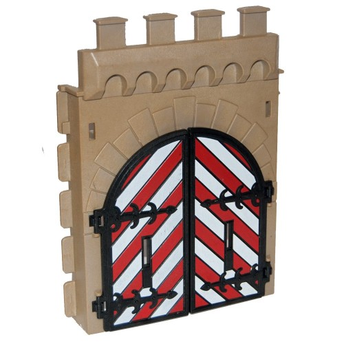 Entrance wall with door - 30078780 - Steck - 3667 Playmobil