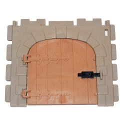 Wall with door - 3666 - Medieval Castle - Steck Playmobil