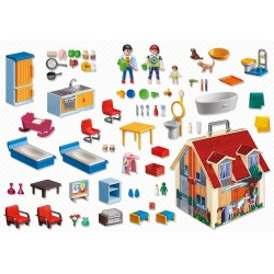 5167 formato valigetta - casa di bambola di Playmobil