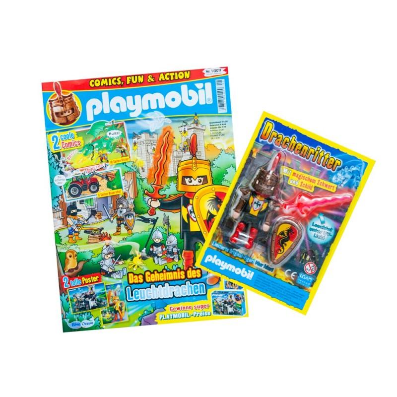 80584 rivista Playmobil bambino (versione Germania) con il regalo di figura