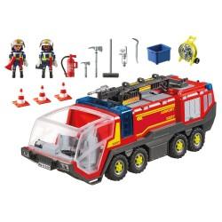 5337 - feux et sirène - Playmobil camion de pompier aéroport