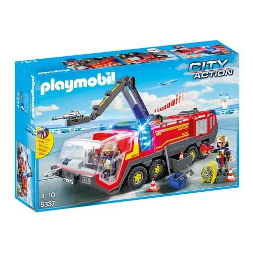 Aeroporto di 5337 - luci e sirena - Playmobil camion dei pompieri