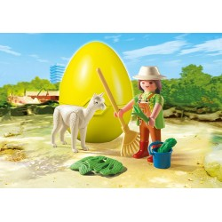 4944 caregiver with Alpaca - Playmobil