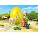 4944 caregiver con Alpaca - Playmobil