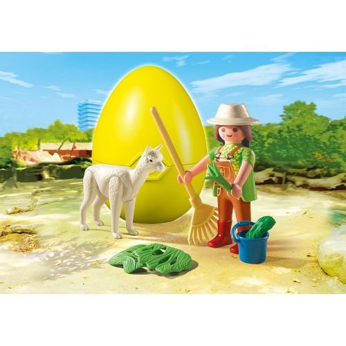 4944 - Cuidadora con Alpaca - Playmobil