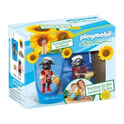 9011-Kit pirate home gardening with pot and sunflower-Playmobil Lehuza