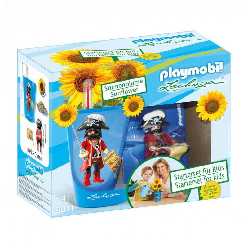 9011 - Kit pirate home gardening with pot and sunflower - Playmobil Lehuza