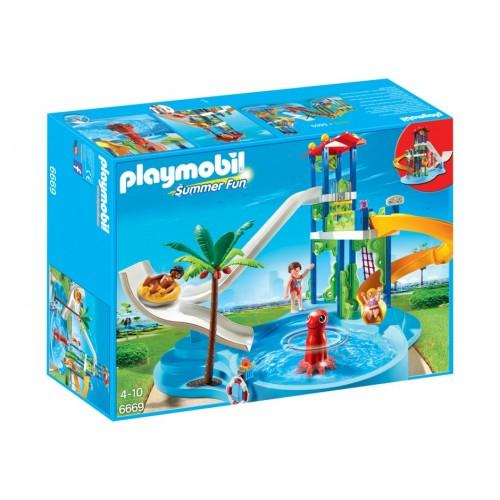 6669 parco acquatico con scivoli d'acqua - Playmobil