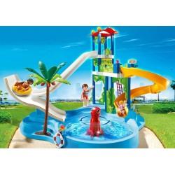 6669 parc aquatique avec toboggans - Playmobil