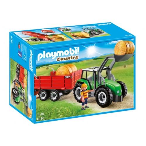 6130-grande trattore con rimorchio-Playmobil