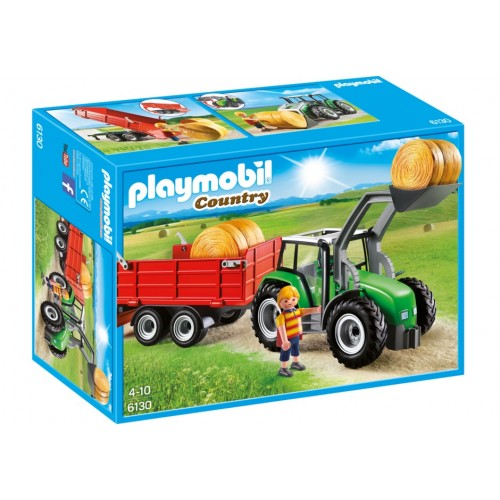 6130. large Tractor with trailer - Playmobil