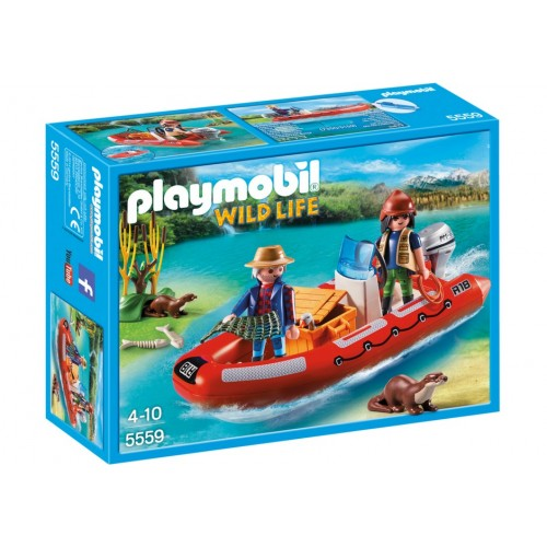 5559 inflatable boat with explorers - Playmobil