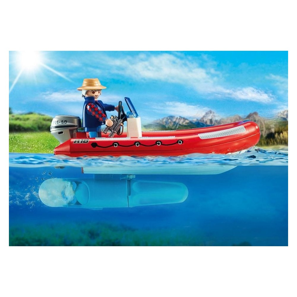 5559 inflatable boat with explorers - Playmobil - Playmobileros