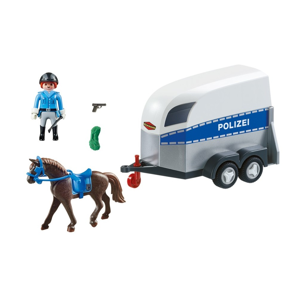 remorque pour chevaux 6875 police playmobil playmobileros tienda de playmobil nuevo y ocasi n. Black Bedroom Furniture Sets. Home Design Ideas