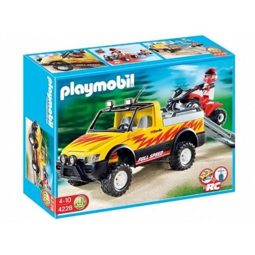 pick-up auto 4228 con Quad - Playmobil - fuori produzione
