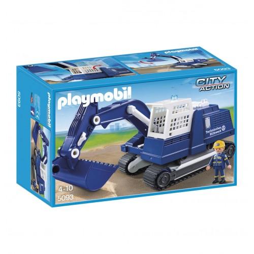 5093 - Escavadora THW Obras Públicas - Playmobil