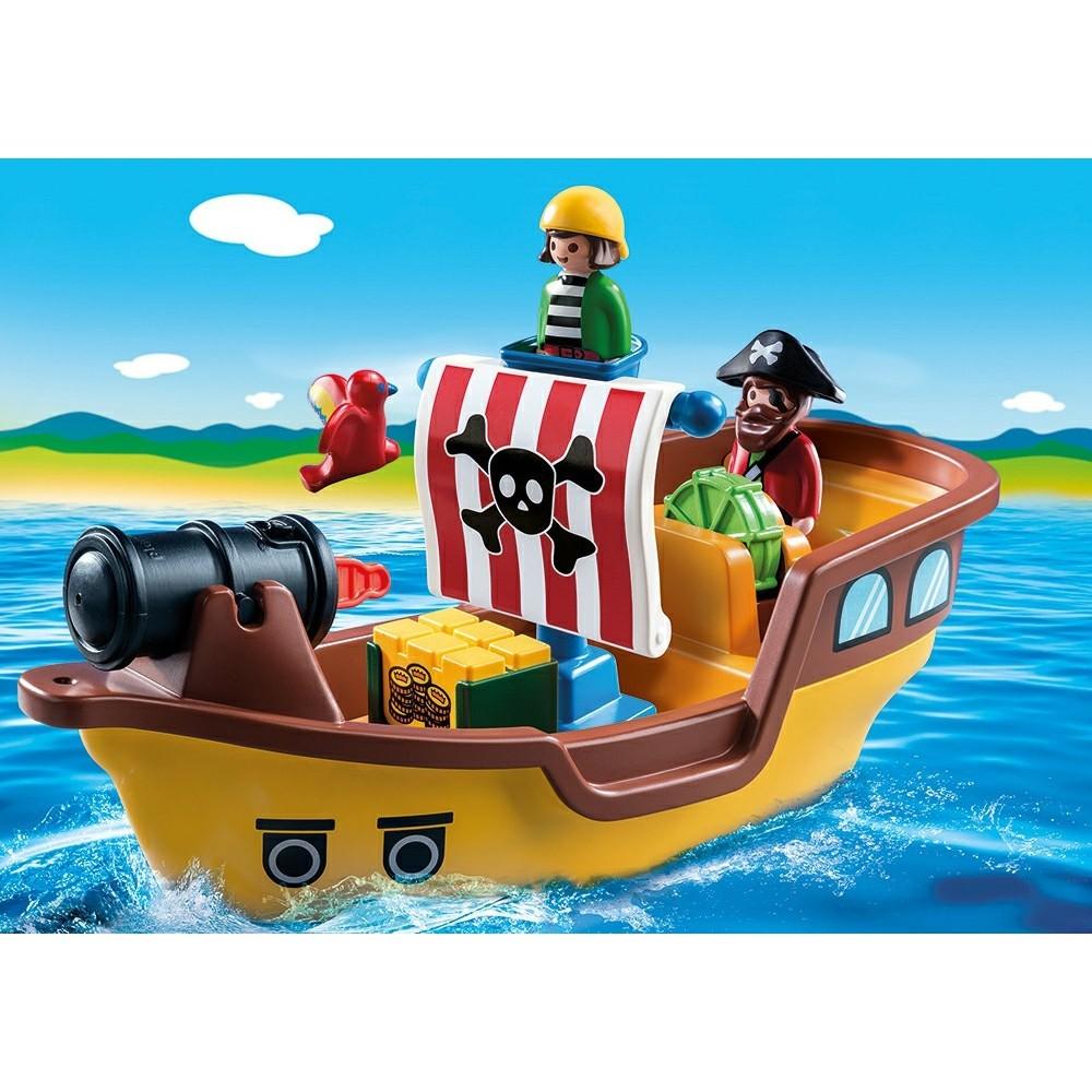 9118 barco pirata 1 2 3 novedad playmobil 2017 for Barco pirata playmobil