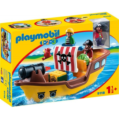 Reserve * 9118 - 1.2.3 pirate ship. -New Playmobil 2017