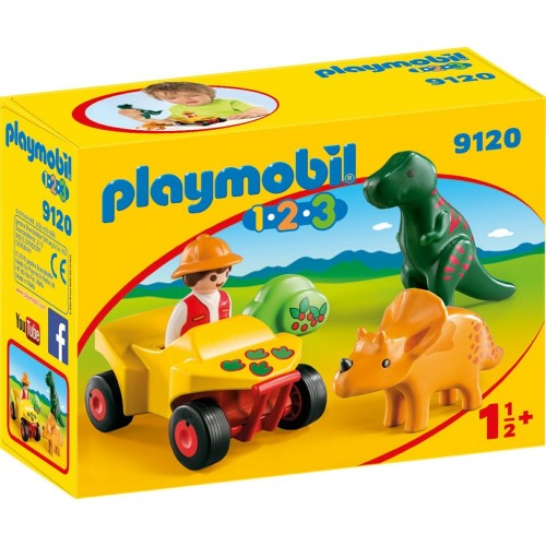Reserve * 9120 - dinosaurs with Quad 1.2.3 browser. -New Playmobil 2017