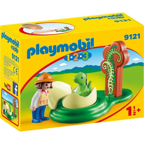 Book * 9121-Explorer with eggs of dinosaur 1.2.3-novelty Playmobil 2017