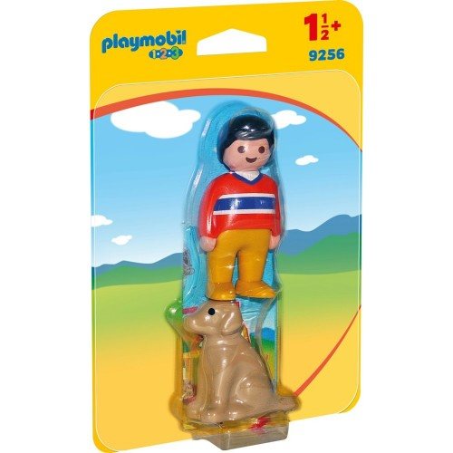 Reserve * 9256 - boy with dog 1.2.3 - novelty Playmobil 2017