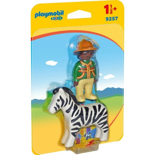 Reserve * 9257 - Vigilante with Zebra 1.2.3 - novelty Playmobil 2017