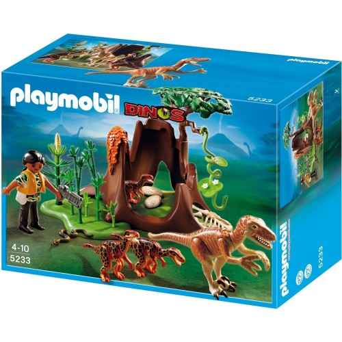 5233 - Velociraptors con exploradora - Playmobil