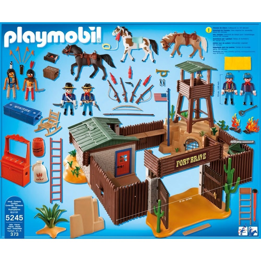 5245 gran fuerte del oeste playmobil western. Black Bedroom Furniture Sets. Home Design Ideas