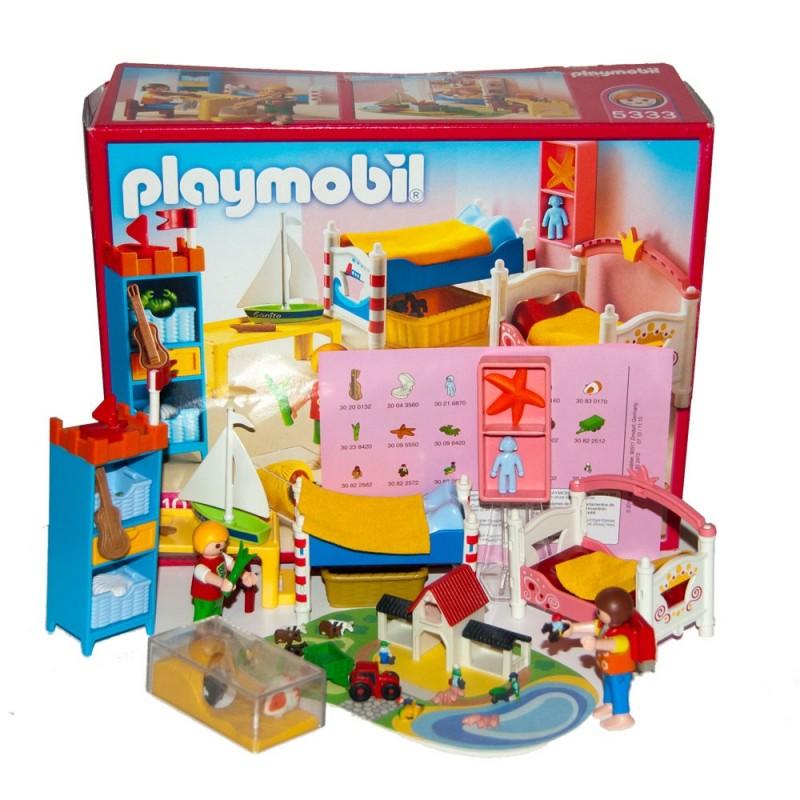 5333 chambre enfants maison munencas playmobil for Playmobil chambre enfant