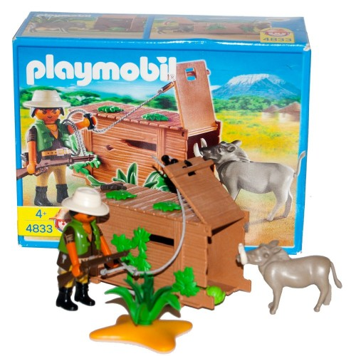 4833 Hunter boar with trap - Playmobil - occasion ÖVP