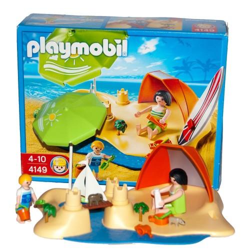 4149 family on the beach - Playmobil - occasion ÖVP