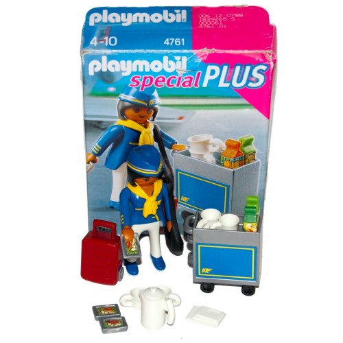 4761 cart - Playmobil - flight stewardess occasion ÖVP