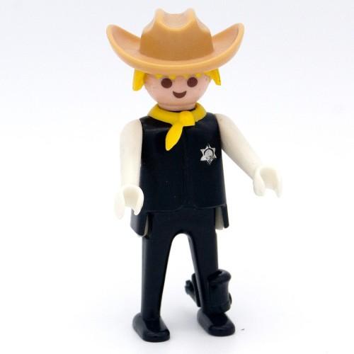 Sherif black clothes Spurs - Playmobil