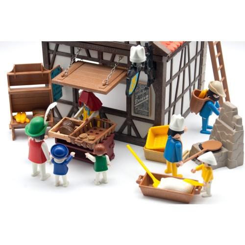 6219-panetteria medievale con personaggi ed extra-Playmobil