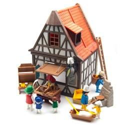 personnages médiévaux 6219 boulangerie et Extras - Playmobil