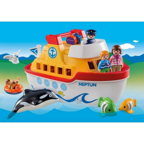 6957 boat Briefcase 1.2.3 - Playmobil