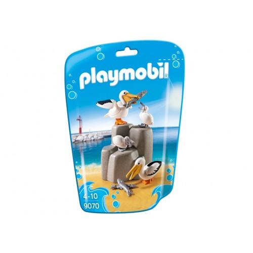 9070-famiglia pellicani sulla roccia-nuova Playmobil 2017 Germania