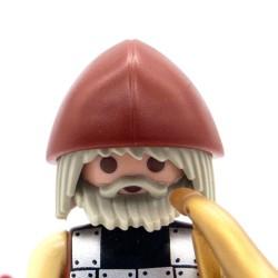 Elmo vichingo marrone scuro-Playmobil 3150 3151 3152